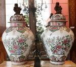 Pair of large vases covered late nineteenth