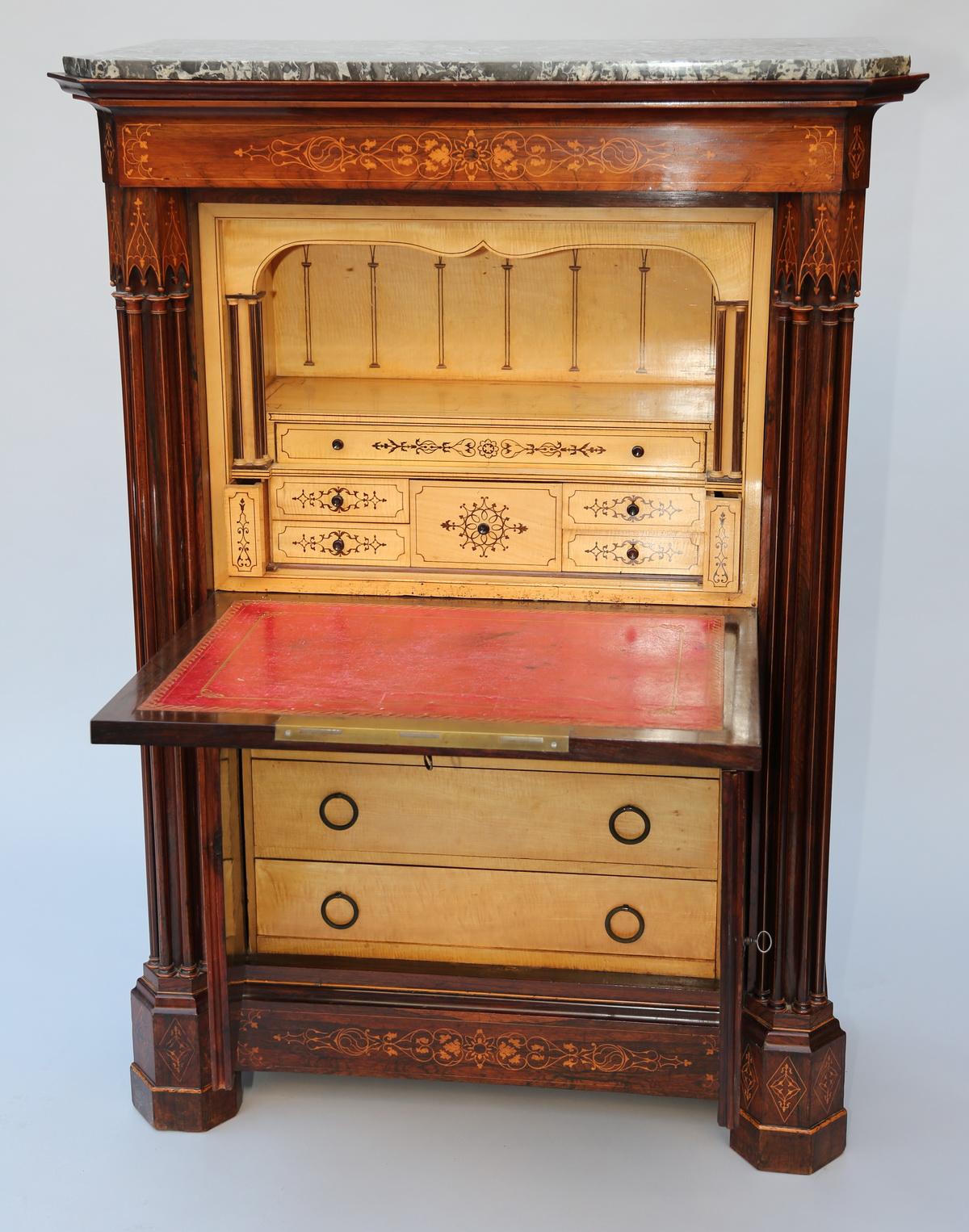 commode secr taire et chevet circa 1830. Black Bedroom Furniture Sets. Home Design Ideas