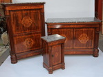 Chest of drawers, secretary and bedside circa 1830