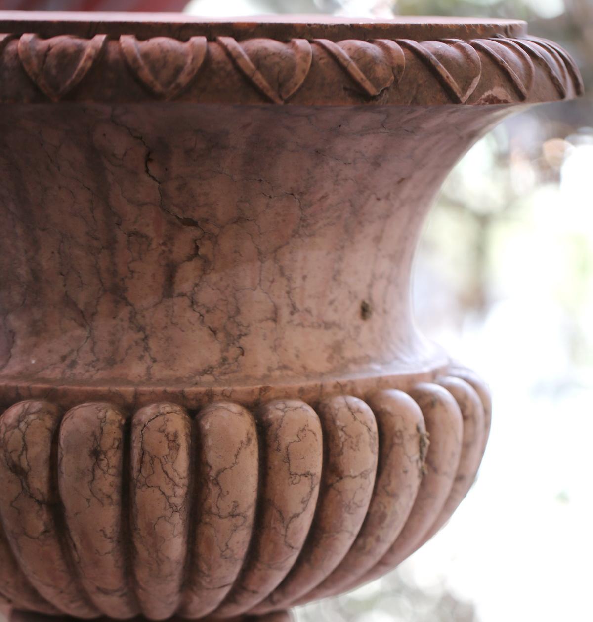 Vasque jardinière marbre