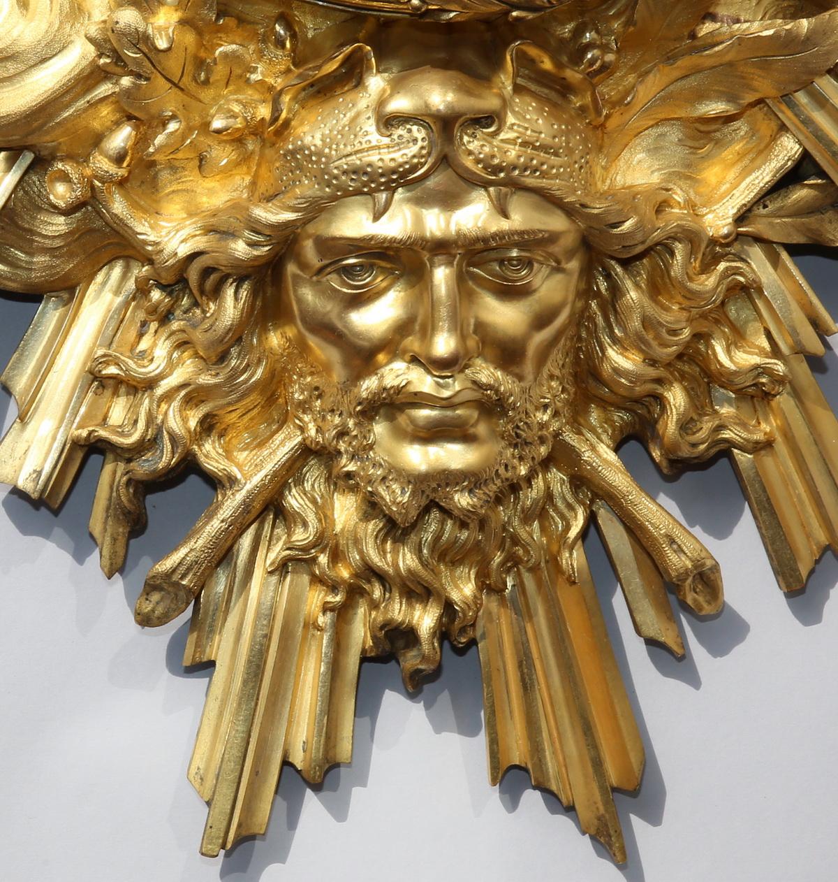 Cartel bronze doré style Louis XIV circa 1880