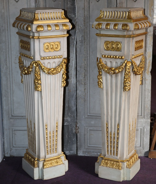 Pair of Louis XVI style columns