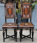 Pair of Renaissance style chairs circa 1880