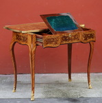 Writing table style Transition circa 1880