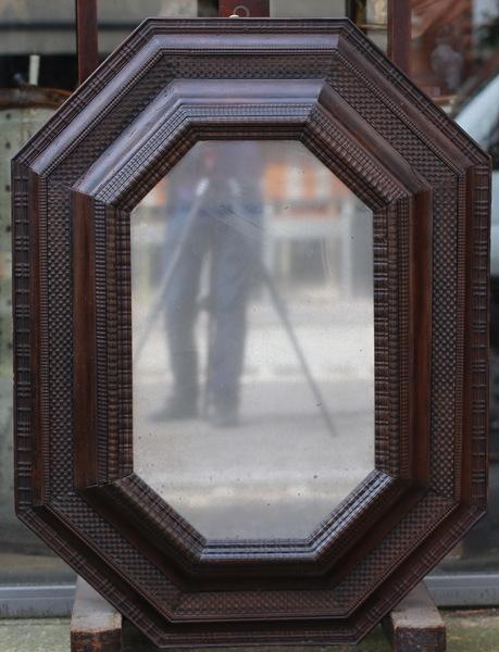 Grand miroir octogonal Italie XVIIème