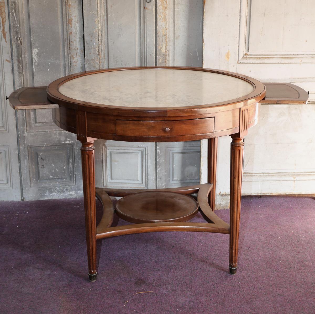 Table bouillotte style Louis XVI fin XIXème