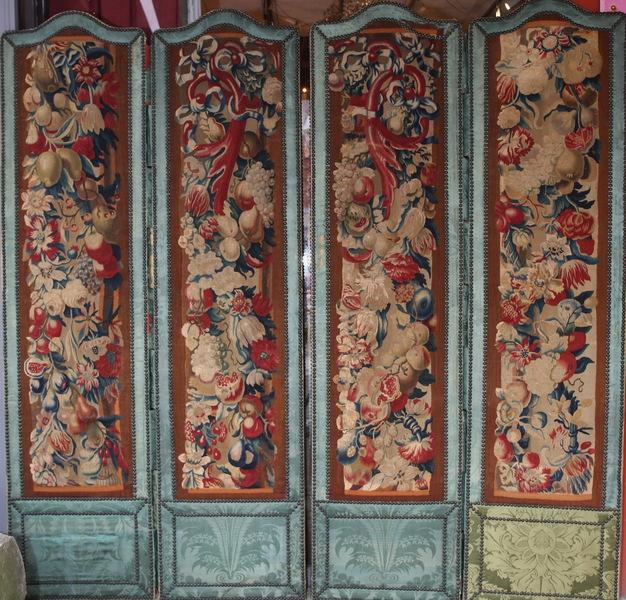 Paravent tapisseries de Beauvais XVIII