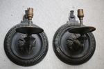 Pair of bronze sconces L XIV style