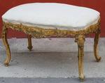 Wide stool Venetian style XIX