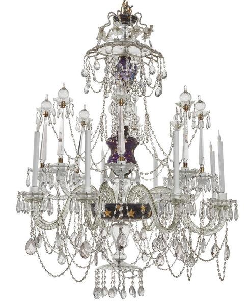 Lustre cristalerie royale de la Grandja circa 1940
