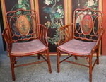 Pair of Chinese style armchairs circa 1880