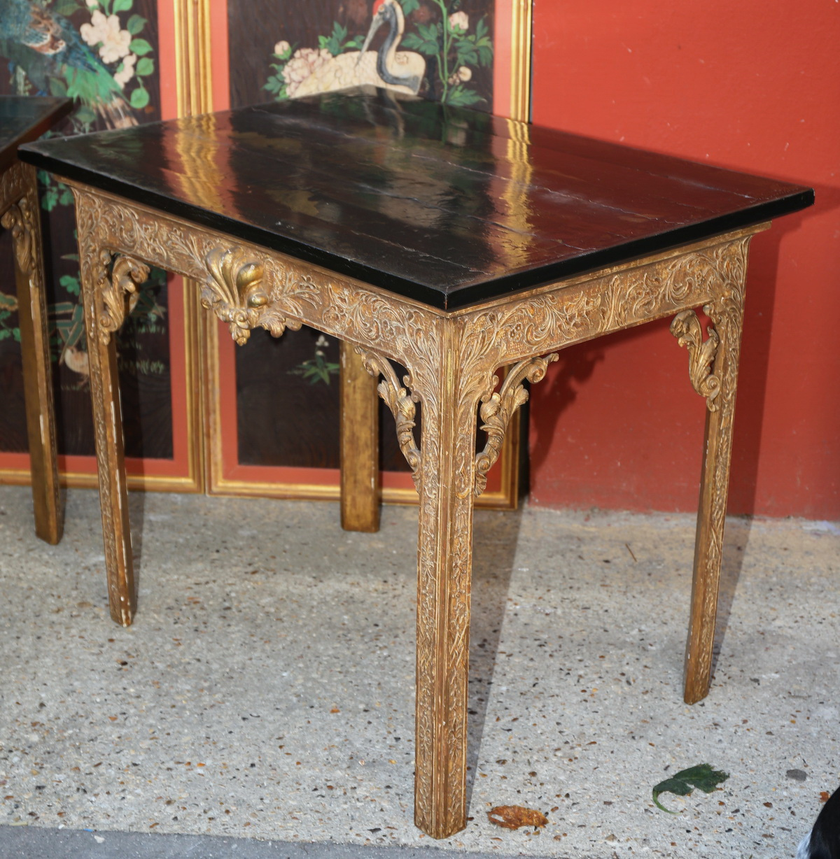 Paire de tables consoles Angleterre fin XVIII