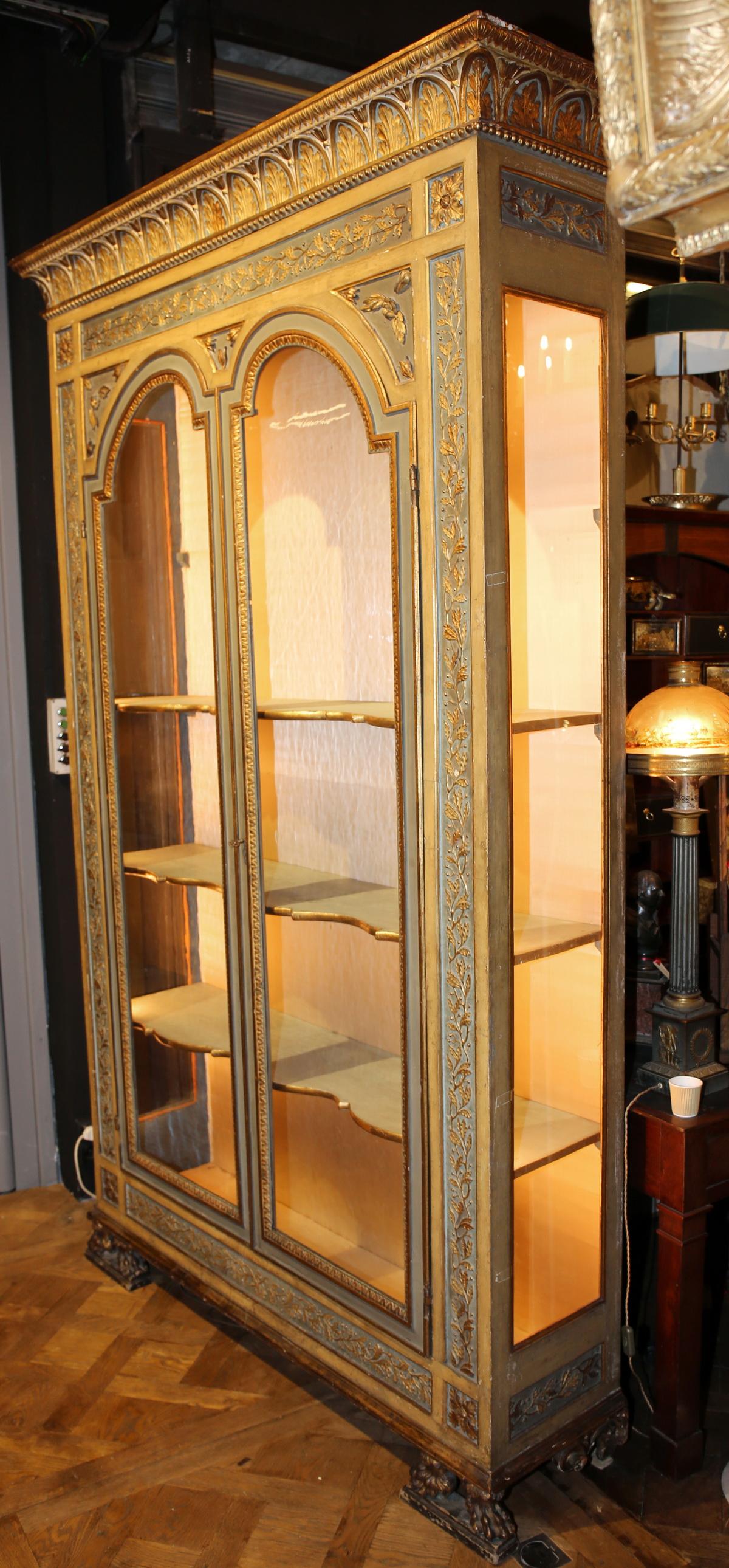 Armoire vitrine fin XIXème