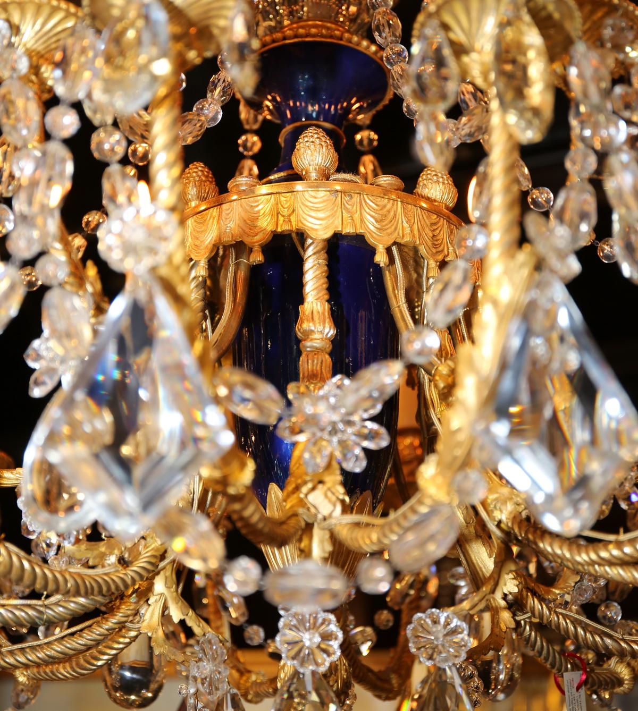 Lustre 18 lumières style Louis XVI début XXème