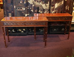 Pair of nineteenth mahogany consoles