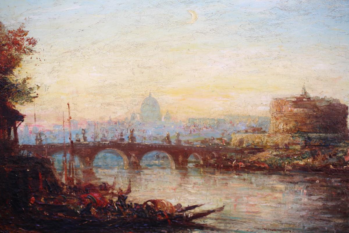 Peinture Vue de rome fin XIXème