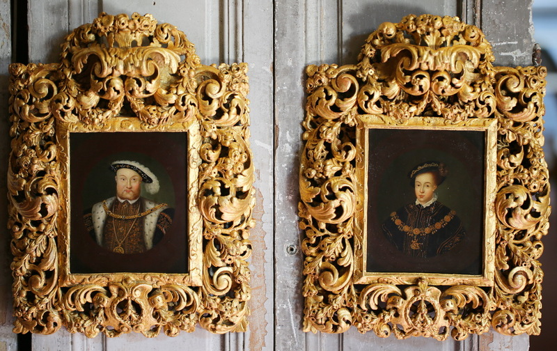 Pair of portraits Edward VI and Henry VIII