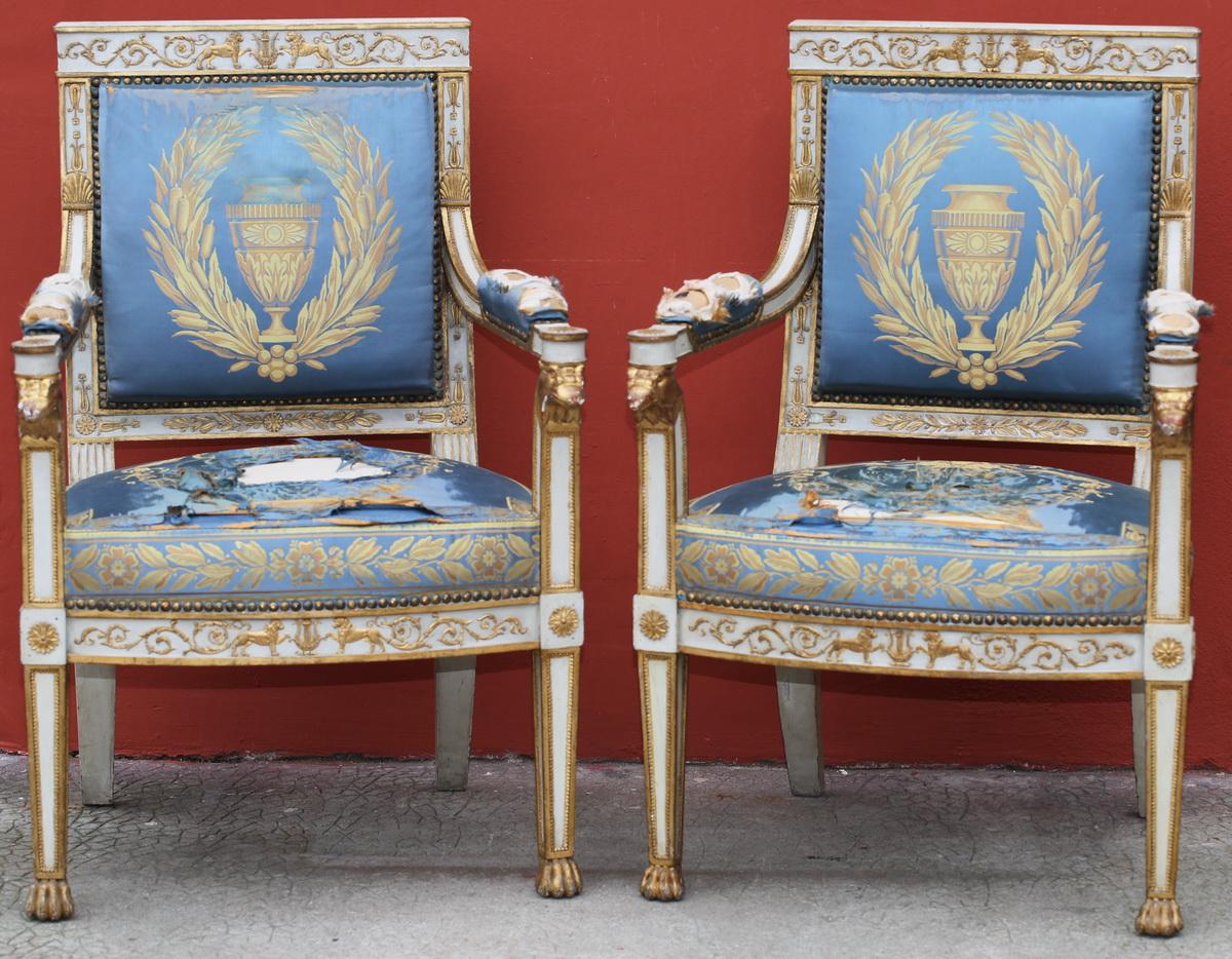 Paire de fauteuils Empire Italie circa 1810
