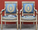 Pair of armchairs Empire Italy circa 1810
