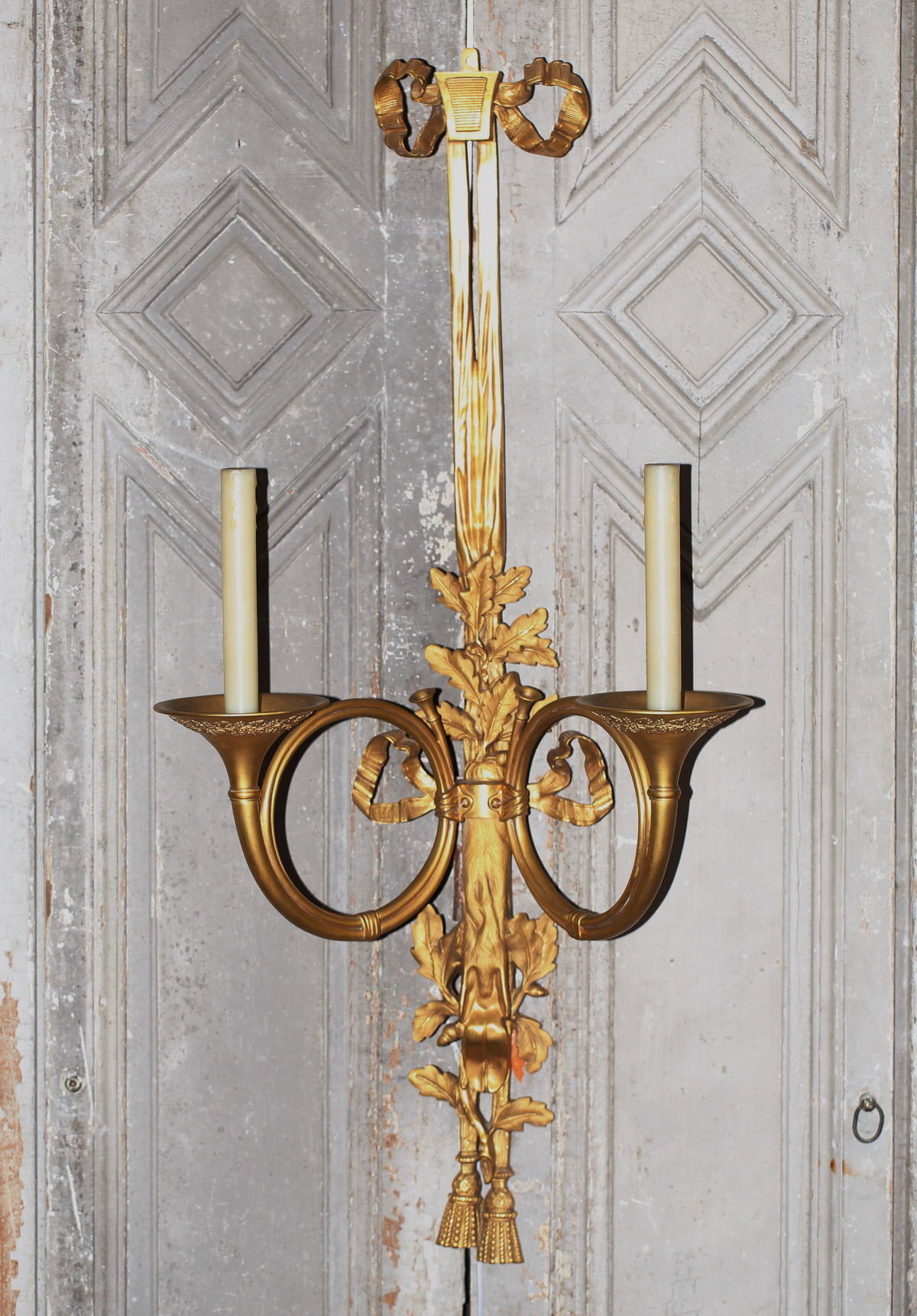 Suite de 4 appliques Louis XVI circa 1900