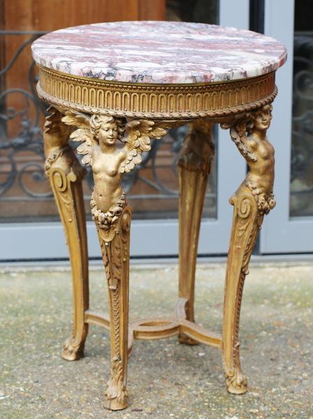 Guéridon style Louis XVI circa 1880
