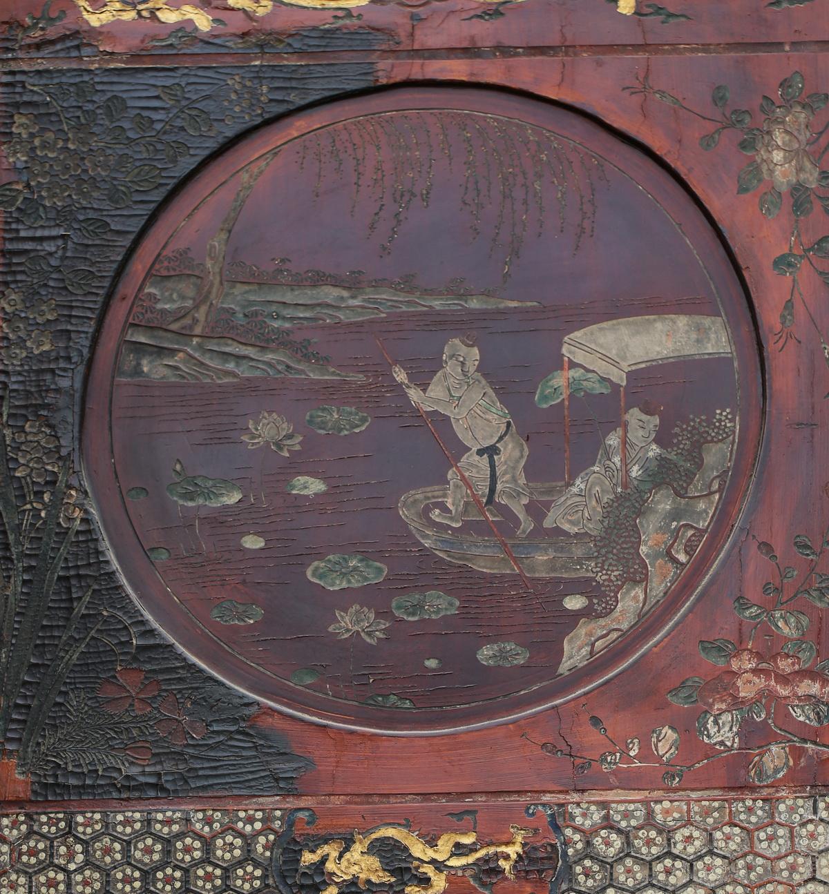 Screen in lacquer Coromandel XVIII