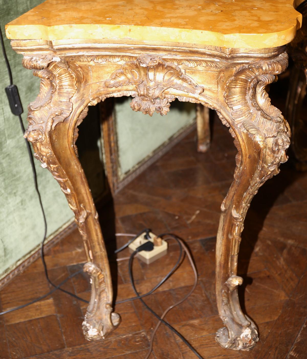Paire de consoles Italie XVIII