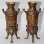 Levilllain 1837-1905, pair of vases