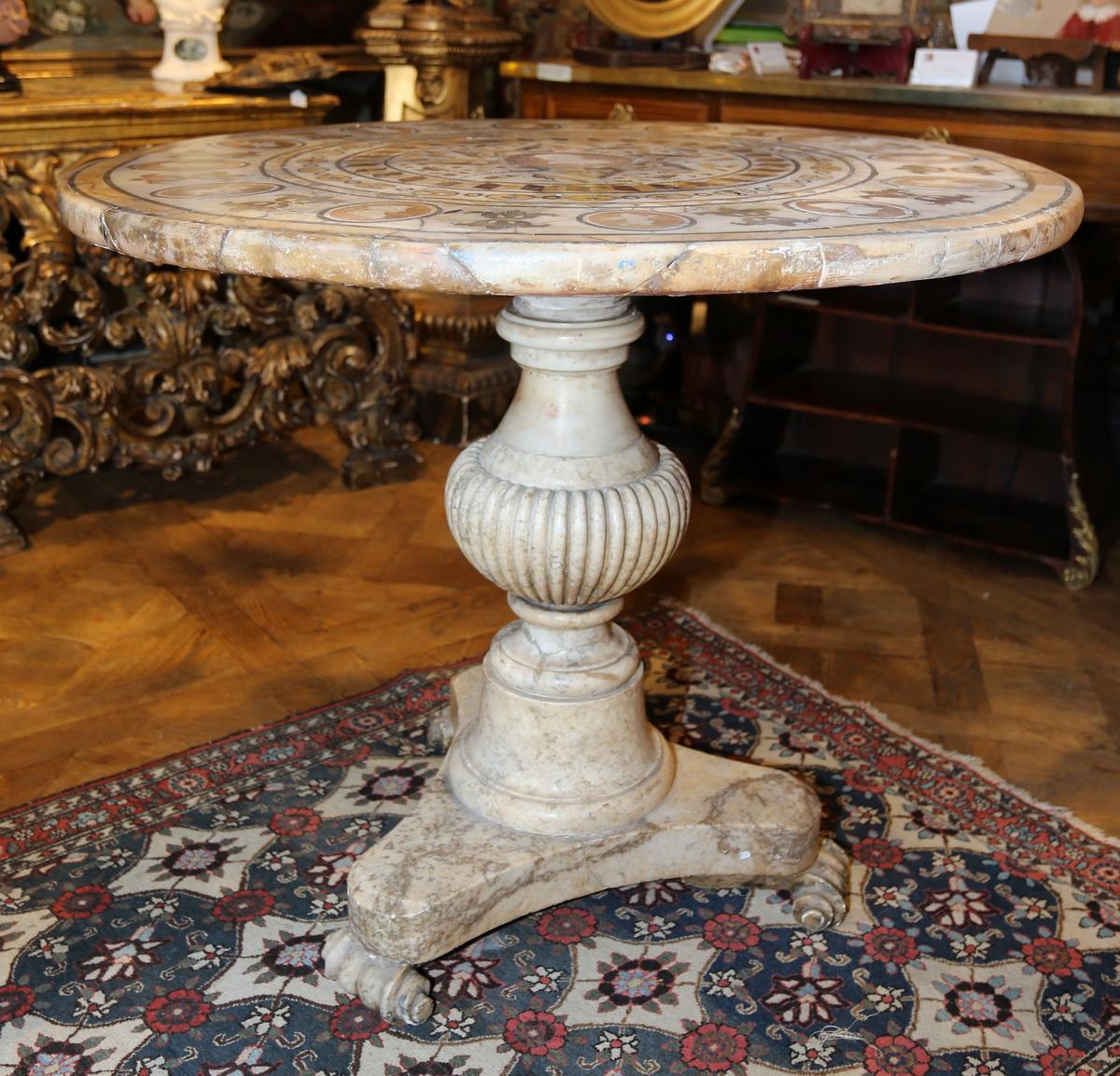 Italian marble pedestal circa 1830