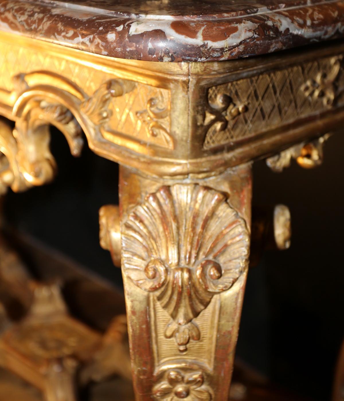 Table console époque Régence