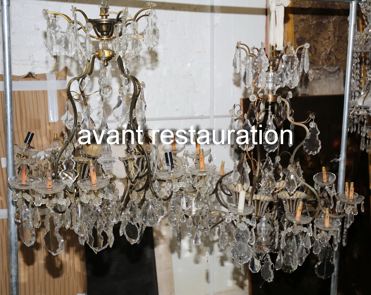 Pair of Baccarat chandeliers early XX