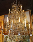 Chandelier 18 lights Louis XV style