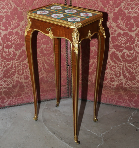 Transition style coffee table, circa 1880