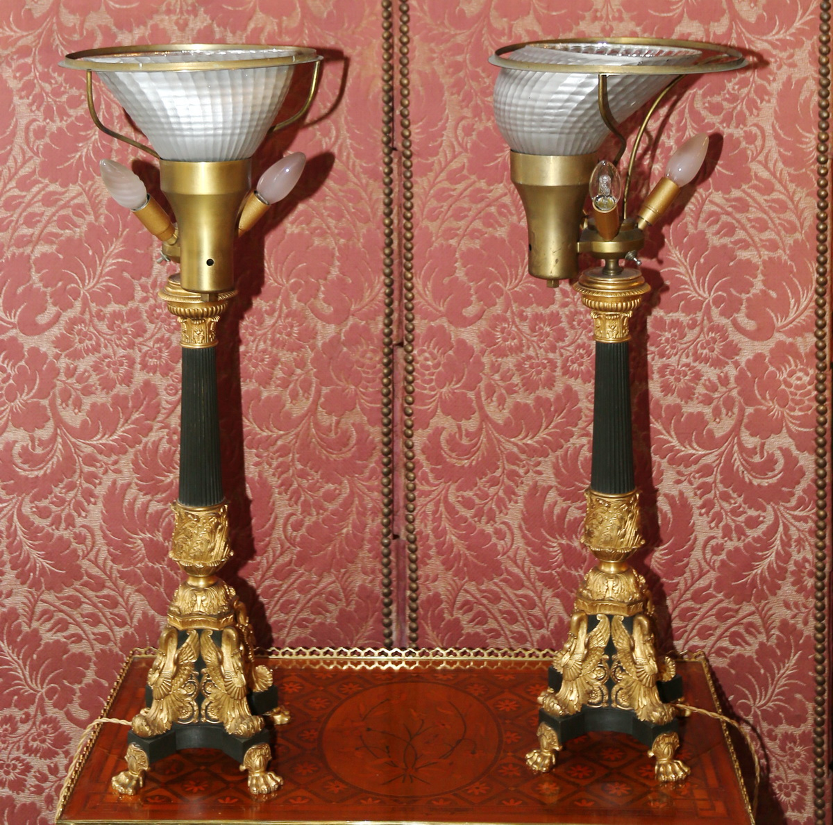 Pair of lamps, house Malabert
