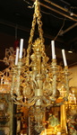 Louis XVI style chandelier gilt bronze XIX
