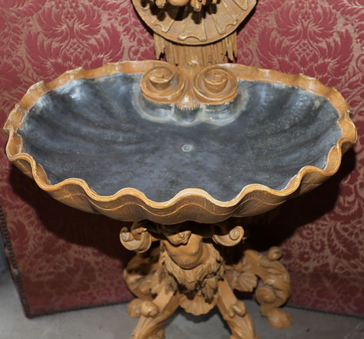 Rococo style fountain, XIXth.