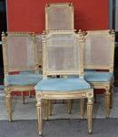 Série de 12 chaises Louis XVI