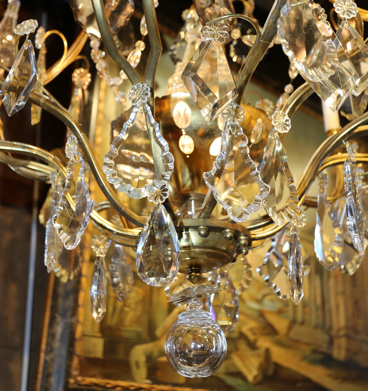 Pair of chandeliers cages circa 1940