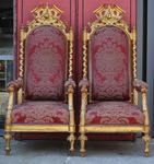 Pair of ceremonial armchairs, Venice circa 1840