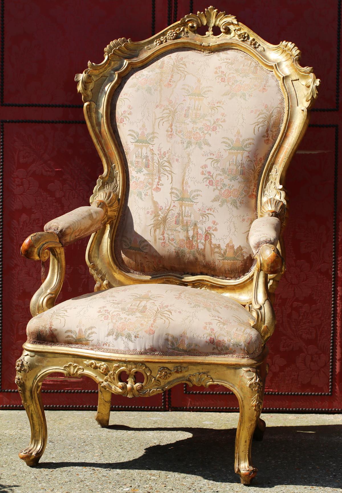 Fauteuil trône, Venise circa 1850