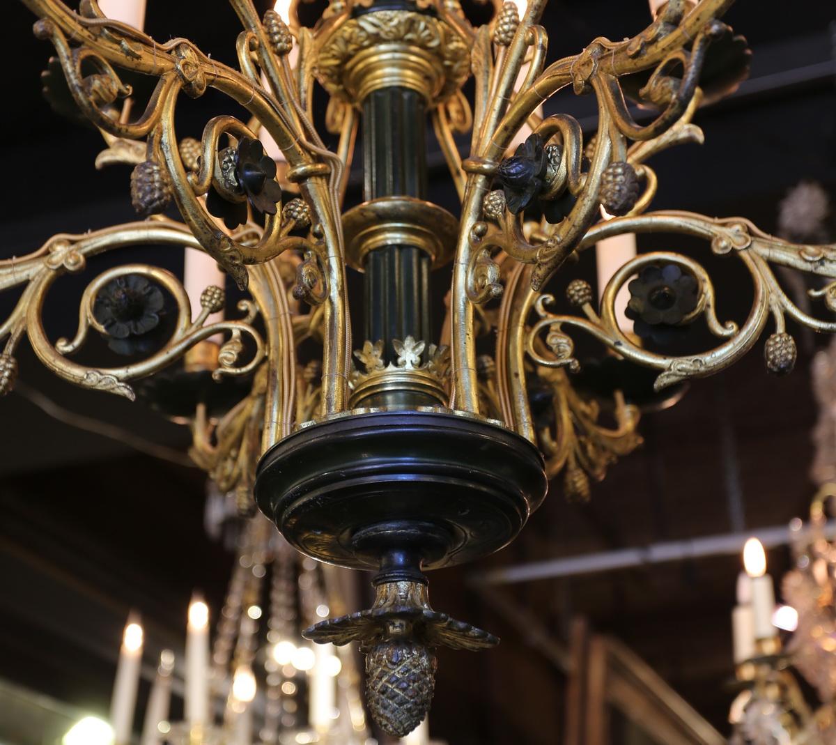 Lustre style néogothique fin XIXème