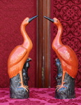 Paire d'Ibis, Chine XIXème.