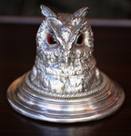 Inkwell Crested Owl circa 1880