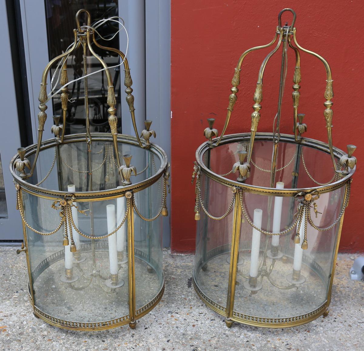 Paire de lanternes style Louis XVI
