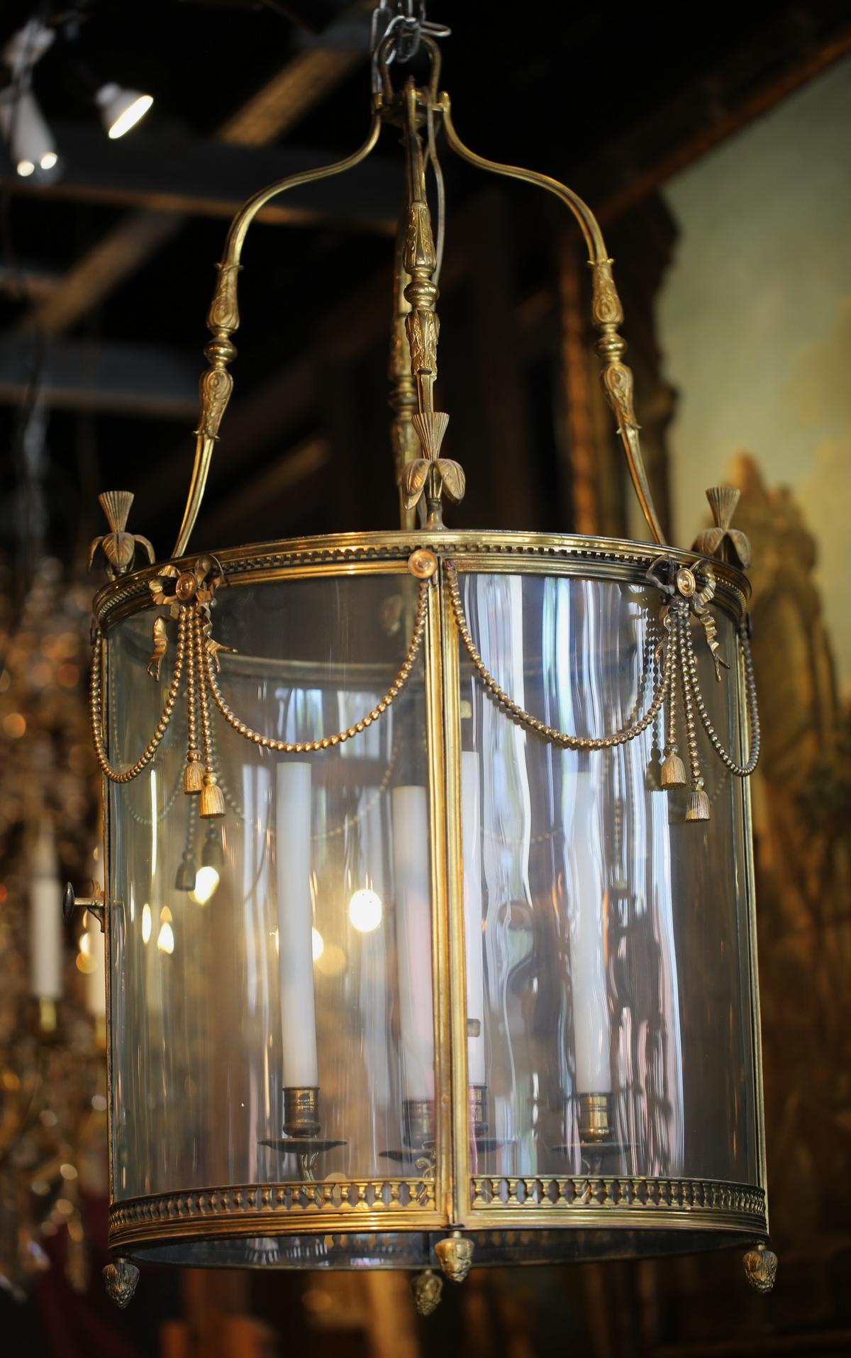 Pair of Louis XVI style lanterns