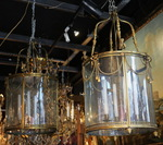 Pair of Louis XVI style lanterns