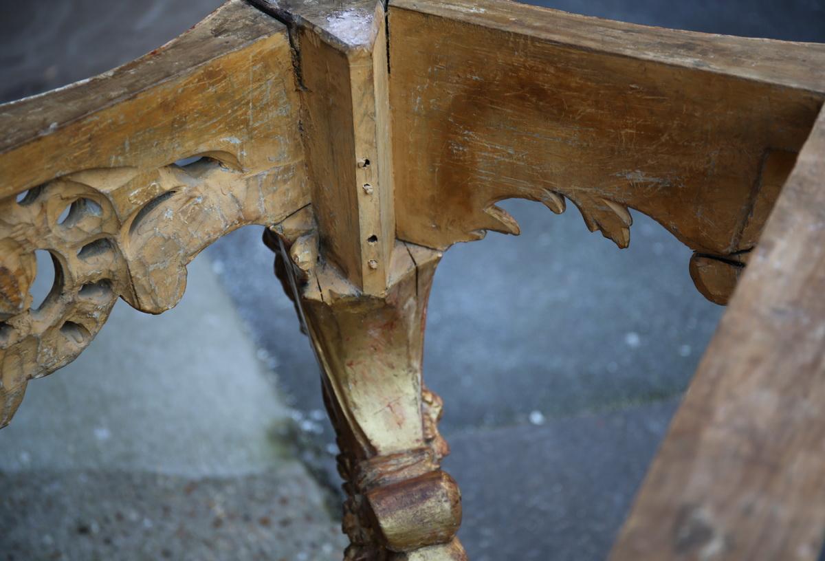 Console 4 feet Louis XV period