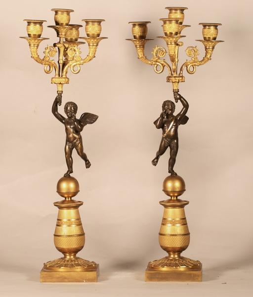 Paire de candélabres circa 1820