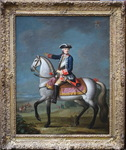 French school of the 18th century, equestrian portrait