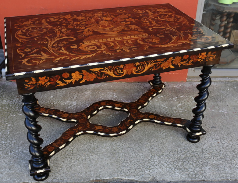 Dutch XVII style coffee table circa 1880